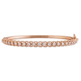 Miadora Signature Collection 14k Rose Gold and 7/8ct TDW Diamond Channel Set bangle Bracelet (G-H, SI1-SI2)