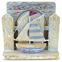 Nautical Decor Multicolor Plastic Vintage Coasters