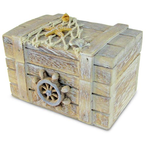 Puzzled Plastic Nautical Decor Vintage-style Jewelry Box