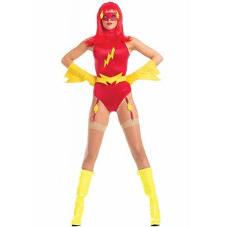 Be Wicked Women's 'Feisty Flash' Red Polyester/Spandex 5-piece High-quality Adult Costume