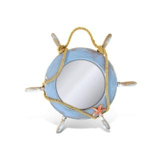 Puzzled Nautical Decor Plastic Pacific Mirror Boat Wheel