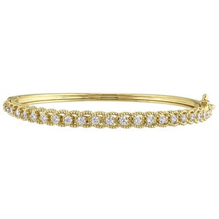 Miadora Signature Collection 14k Yellow Gold and 7/8ct TDW Diamond Channel Set Bangle Bracelet (G-H, SI1-SI2)