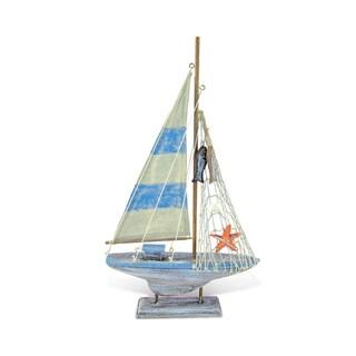 Puzzled Inc Nautical Decor Collection Multicolor Plastic Pacific Calypso Sailboat