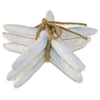 Puzzled Nautical Decor Collection White Resin Starfish