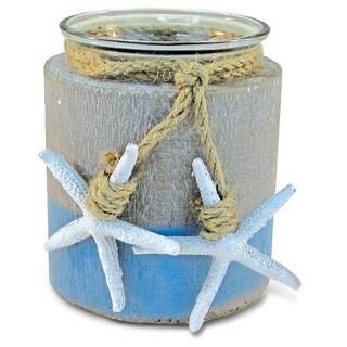 Puzzled Ocean Breeze Plastic Nautical Pillar Candleholder