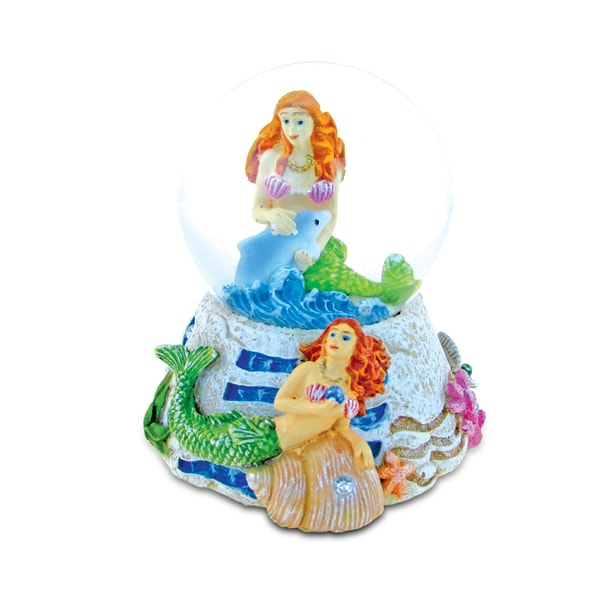 Mermaid Faux Stone Snow Globe