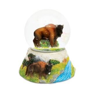 Puzzled Inc. Buffalo Stone Plastic Snow Globe
