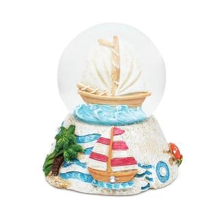 Puzzled Stone Boat Snow Globe