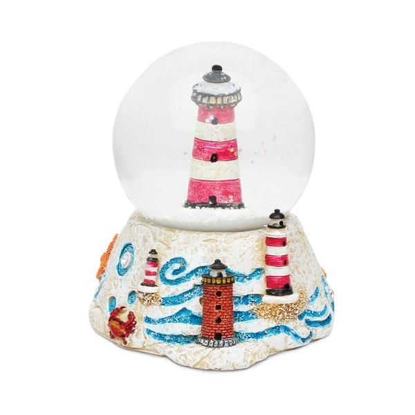 Puzzled Lighthouse Stone Snow Globe