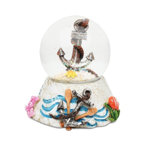 Stone Snow Globe - Anchor