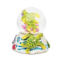 Puzzled Inc. Sea Turtle Stone-look Multicolored Plastic Snow Globe