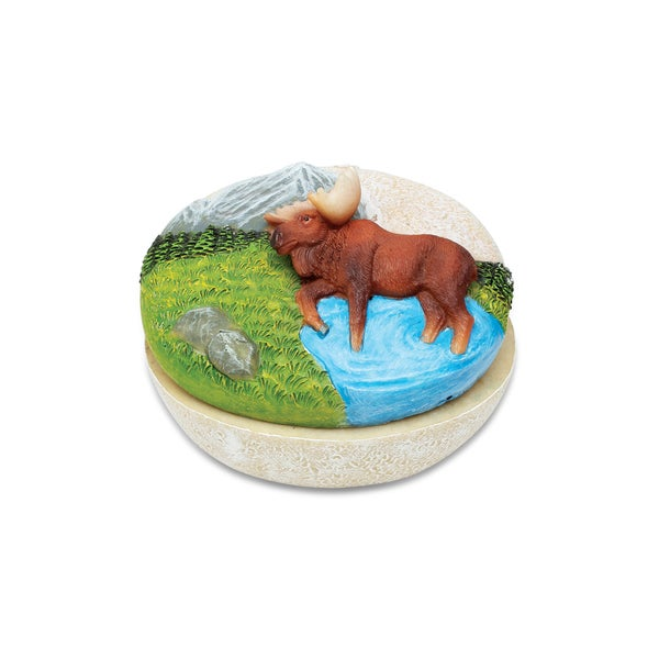 Puzzled Moose Stone Jewelry Box