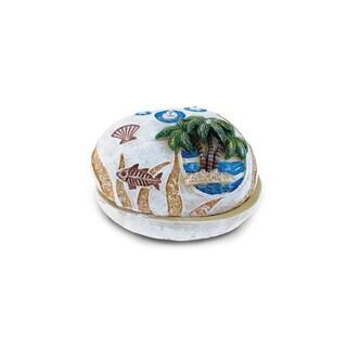 Puzzled Palm Tree Plastic Stone Jewelry Box
