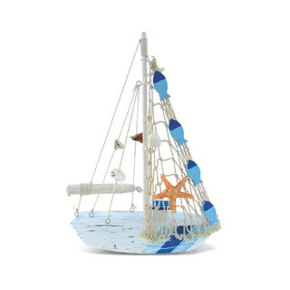 Link to Puzzled Inc. Light Blue Stripes Fishing Boat Plastic Nautical Decor Similar Items in Glasses & Barware