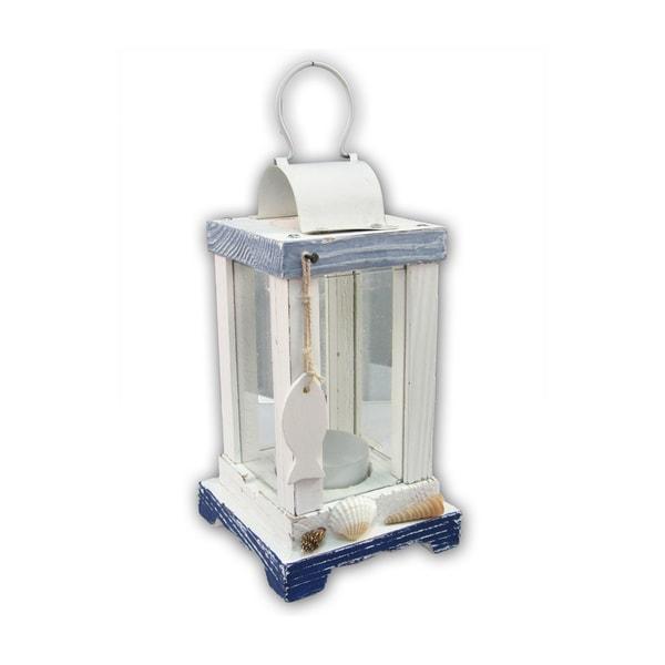 Puzzled Blue Plastic Lantern Nautical Decor