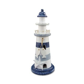 Puzzled Blue Stripes Lighthouse Nautical Decor|https://ak1.ostkcdn.com/images/products/12439537/P19254900.jpg?impolicy=medium