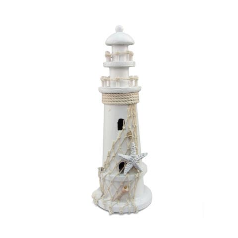 Nautical Decor White Lighthouse