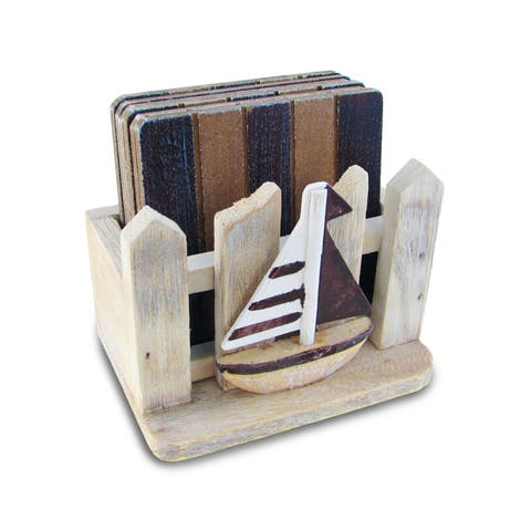 Nautical Decor Brown Coasters