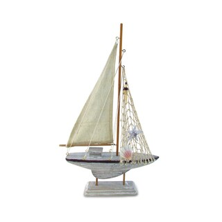 Puzzled Browh Sailboat Nautical Decor