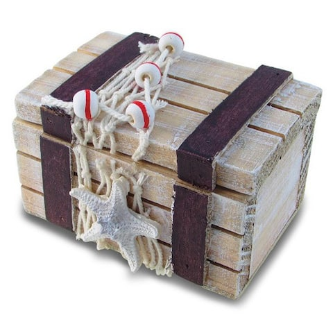 Puzzled Inc. Brown Treasure Box Nautical Decor