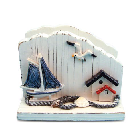 Puzzled Inc. Muticolored Plastic Napkin Holder with Nautical Theme