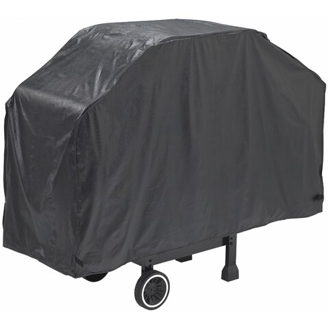 """GrillPro 50057 56"""" X 21"""" X 40"""" Black Heavy-Duty Grill Cover"""