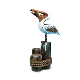 Nautical Decor Multicolor Plastic Standing Pelican