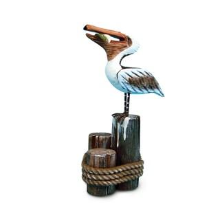 Nautical Decor Multicolor Plastic Standing Pelican