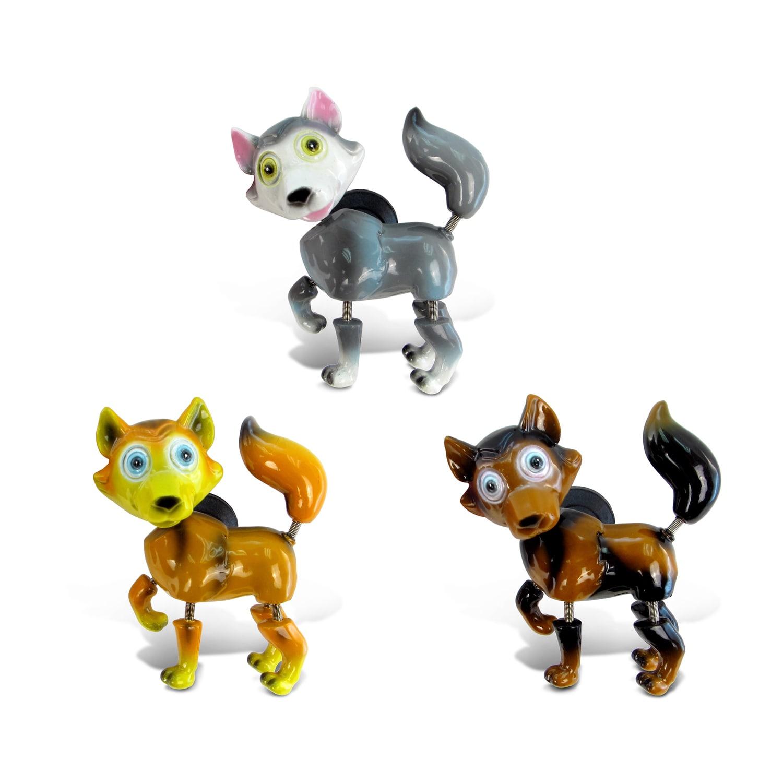 "Puzzled Multicolor Plastic Wolf Bobble Magnets (Size: 6""L..."