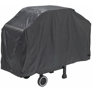 """GrillPro 50068 68"""" X 21"""" X 40"""" Black Heavy-Duty Grill Cover"""