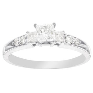 H Star 14k White Gold 5/8ct Princess-cut Diamond Engagement Ring (I-J, I2-I3)