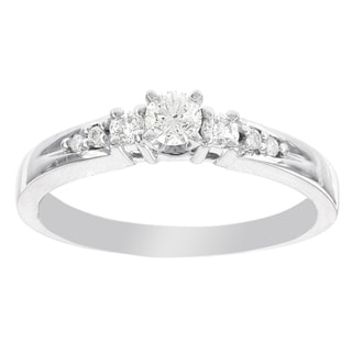 H Star 14k White Gold 1/3ct TDW Diamond Engagement Ring (I-J, I2-I3)