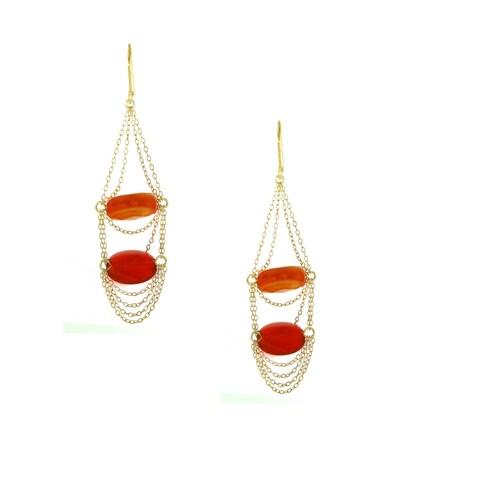 One-of-a-kind Michael Valitutti Two Color Carnelian Dangling Change Earrings