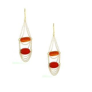One-of-a-kind Michael Valitutti Two Color Carnelian Dangling Change Earrings