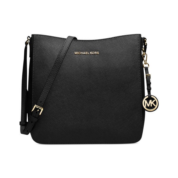 53f59234ac9a Shop Michael Kors Jet Set Large Black Crossbody Travel Handbag ...