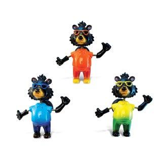 Multicolor Plastic Cool Black Bear Bobble Magnets