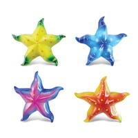 Puzzled Plastic Starfish Bobble Magnet (Set of 4)