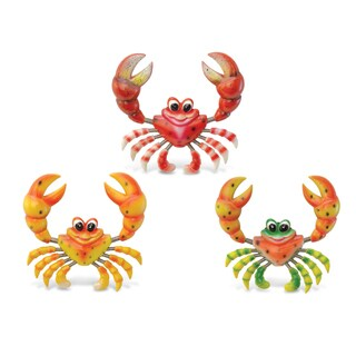 Funny Crab Multicolor Plastic Bobble Magnet
