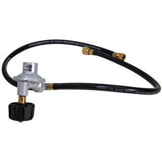 GrillPro 80016 Hose & Regulator Assembly With Side Burner Connection