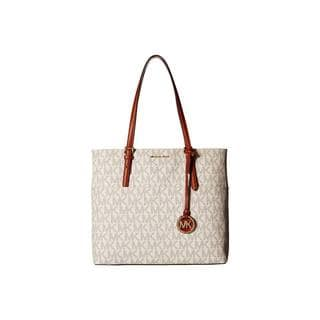 Michael Kors Off-white/Beige PVC Large Pocket Tote Bag