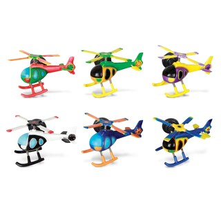 Puzzled Plastic Helicopter Bobble Magnet Set