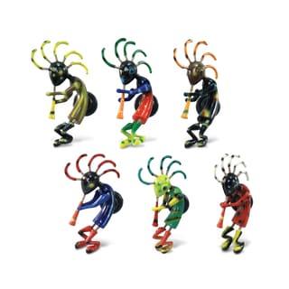 Puzzled Multicolor Plastic Kokopelli Bobble Magnets