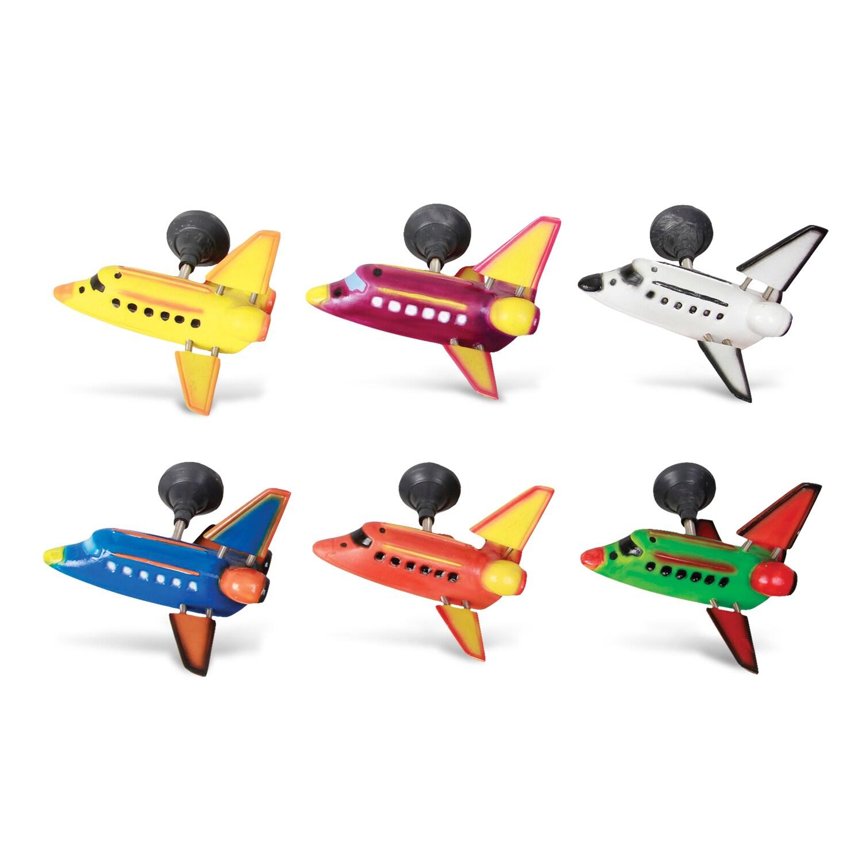 Puzzled Plastic Space Shuttle Bobble Magnet (Set of 6) (S...