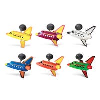 Puzzled Plastic Space Shuttle Bobble Magnet (Set of 6)