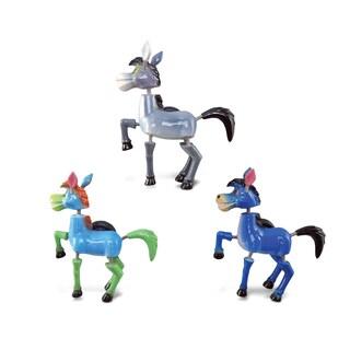 Puzzled Inc. Donkey Multicolored Plastic Bobble Magnet (Set of 3)