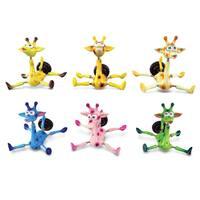 Puzzled Plastic Giraffe Bobble Magnet (Set of 6)