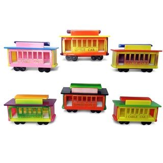 Puzzled Inc. Cable Car Multicolored Plastic Bobble Magnet