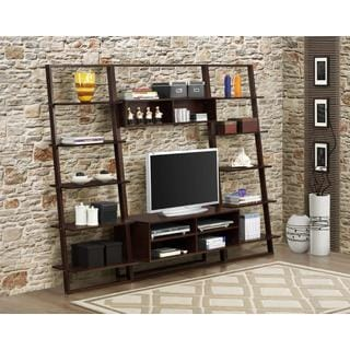 Arlington Ladder Home Entertainment Center and 2 Wall Bookcases