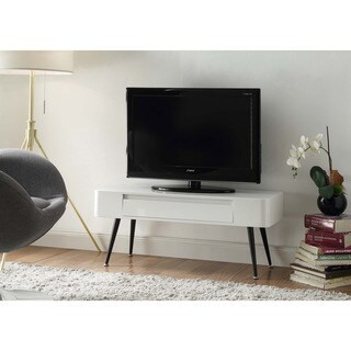 Black and White Mid-century Modern TV Stand