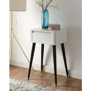 Black and White Mid-century Modern Tall Side Table